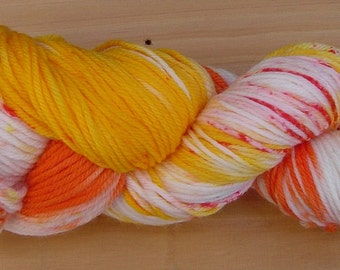 100g Hand-dyed, 100% pure wool, 8ply yarn - Tropicana