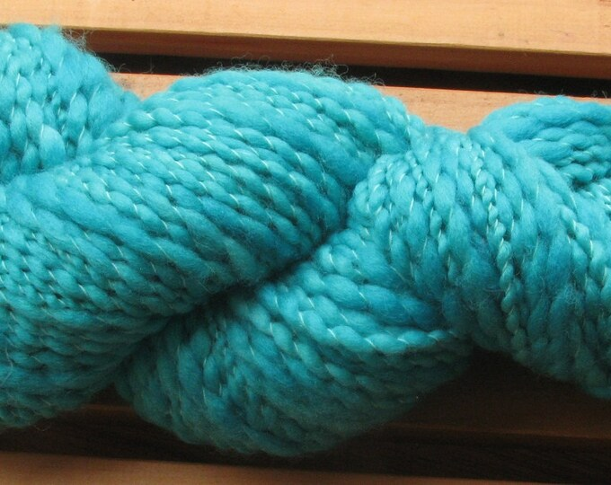 Thick-N-Thin, hand-dyed yarn, 100g - Teal