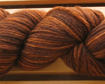 10Ply, hand-dyed yarn, 100g - Chocolate