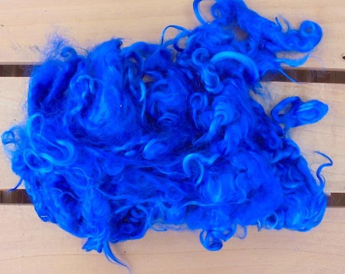 50g Hand-dyed Mohair Locks - True Blue