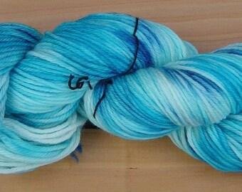 8Ply (DK), hand-dyed yarn, 100g  - Blue Moon