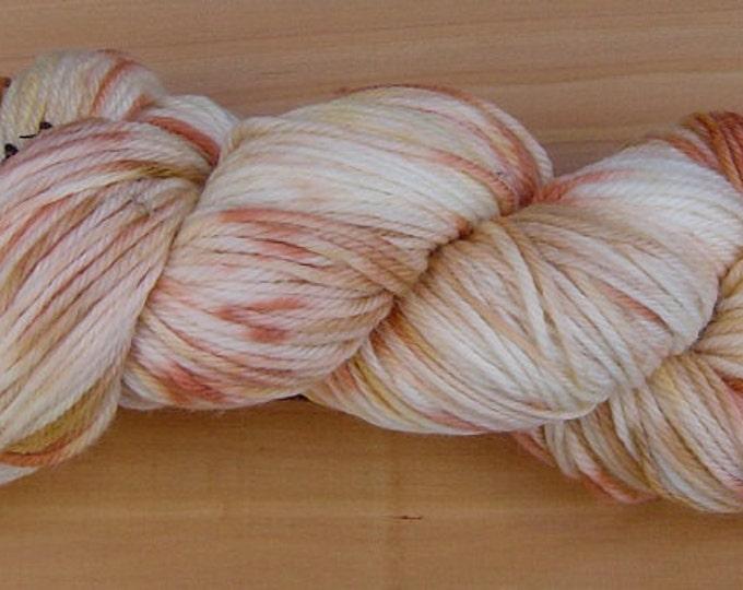 8Ply (DK), hand-dyed yarn, 100g  - Caramel Swirl