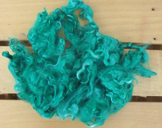 50g Hand-dyed Mohair Locks - Teal