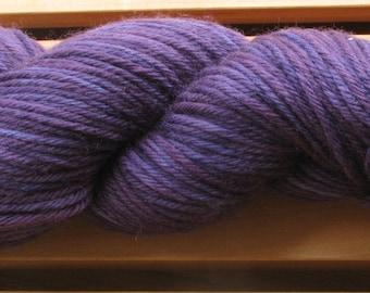 8Ply (DK), hand-dyed yarn, 100g - Deep Purple