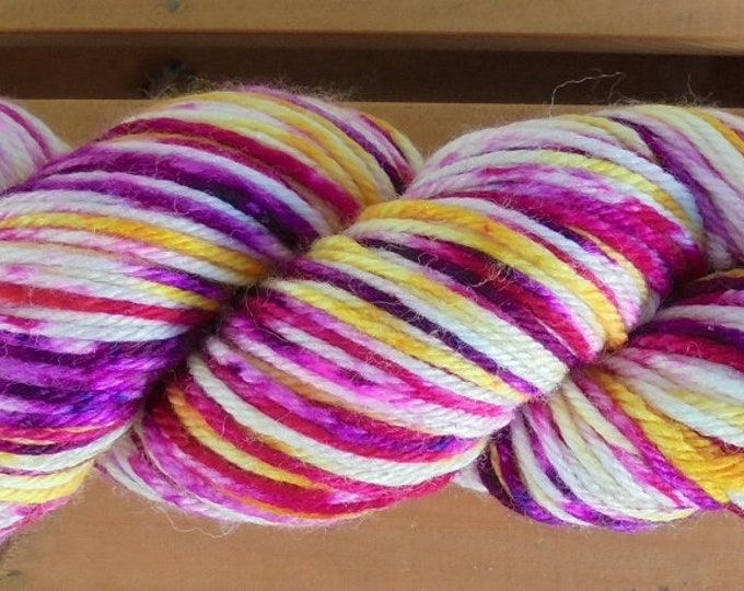 8Ply (DK), hand-dyed yarn, 100g  - ABBA On Loud