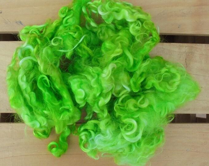 50g Hand-dyed Mohair Locks - Lime