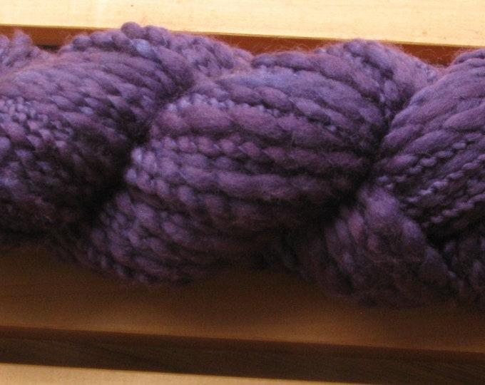 Thick-N-Thin, hand-dyed yarn, 100g - Deep Purple