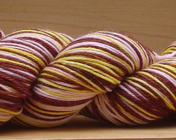 Self-Striping Sock (4Ply), hand-dyed yarn, 100g - Layer Cake