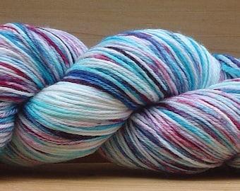 Sock (4Ply), hand-dyed yarn, 100g - Purple Ripple