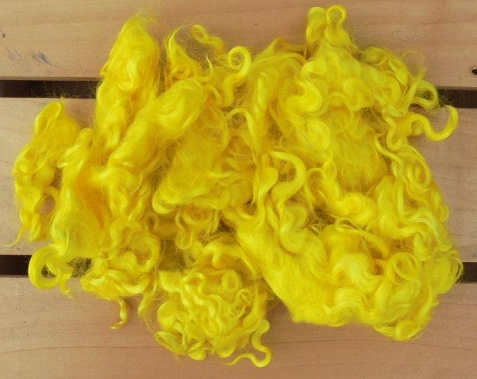 50g Hand-dyed Mohair Locks - Lemon