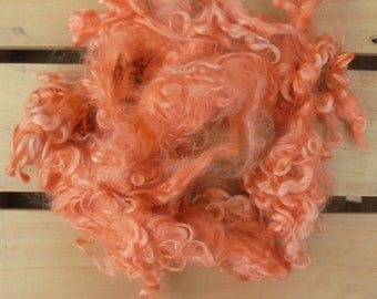 50g Hand-dyed Mohair Locks - Orange