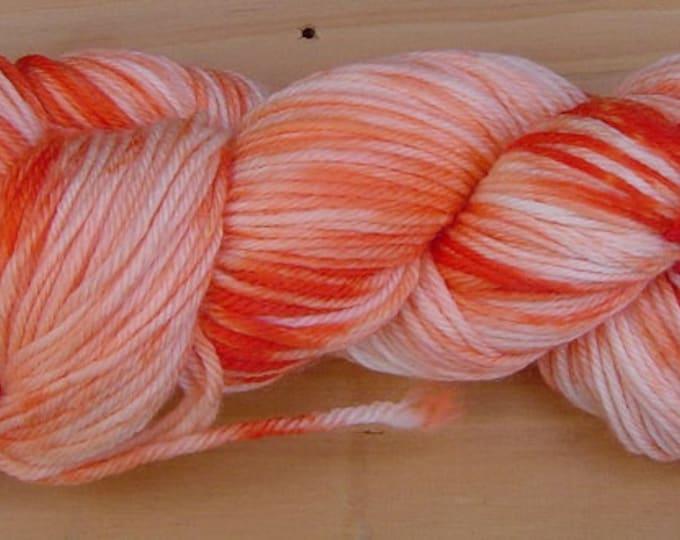 8Ply (DK), hand-dyed yarn, 100g - Orange Crush