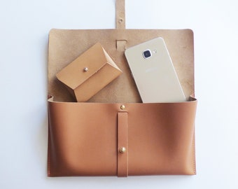 Leather Clutch, Leather Purse, Handmade Bag, Minimal Design, Woman, Handbag