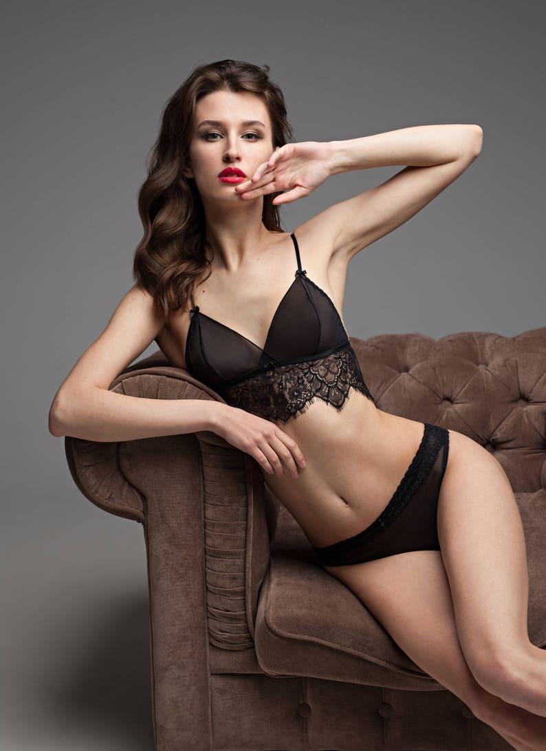 4abd014f10a Mesh lingerie See through bra See through panties Erotic