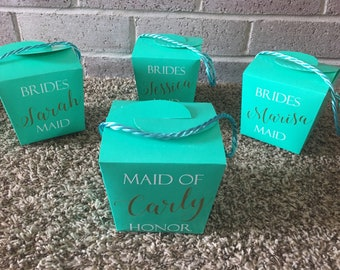 Bridesmaid Gift Box. Wedding favor. 4 Box Set