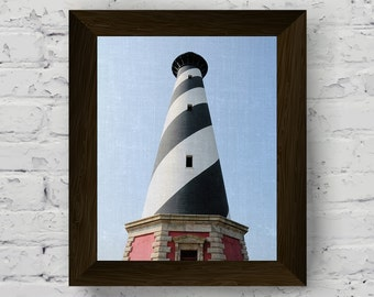 lighthouse photo, nautical print, beach poster, coastal wall art, nautical wall art, beach wall decor, digital print art, instant download