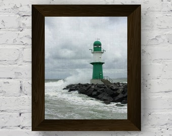 lighthouse print, beach decor, coastal photography, beach print, nautical poster, sea wall art, ocean wall art, ocean print, instant digital