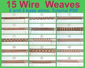 Wire weave tutorial  15 Wire  Weaves  2 and 3 base wires
