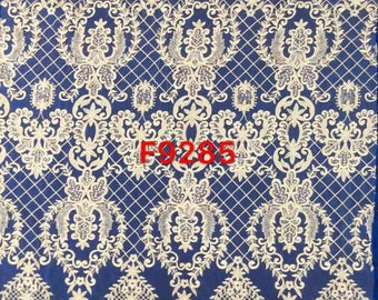 Lace fabric by the yard, embroidery lace, flower lace fabric, guipure french lace fabric for wedding dress lace fabric