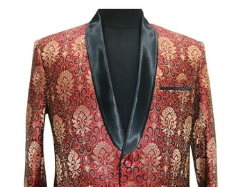 Red and Gold Smoking Jacket