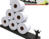 Toilet Paper Storage - Merlin the Wizard Shelf for Toilet Paper Rolls - Bath Decor - Tilted Toilet Paper Rack - Bathroom Accessories