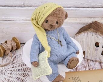 Artist Teddy 12 cm Artist Teddy Bear Handmade Bear Teddy OOAK Miniature Vintage Collectibles