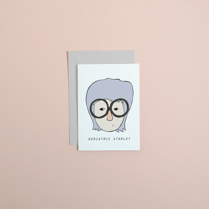 Iris Apfel greetings card  // greetings card // stationery // image 0