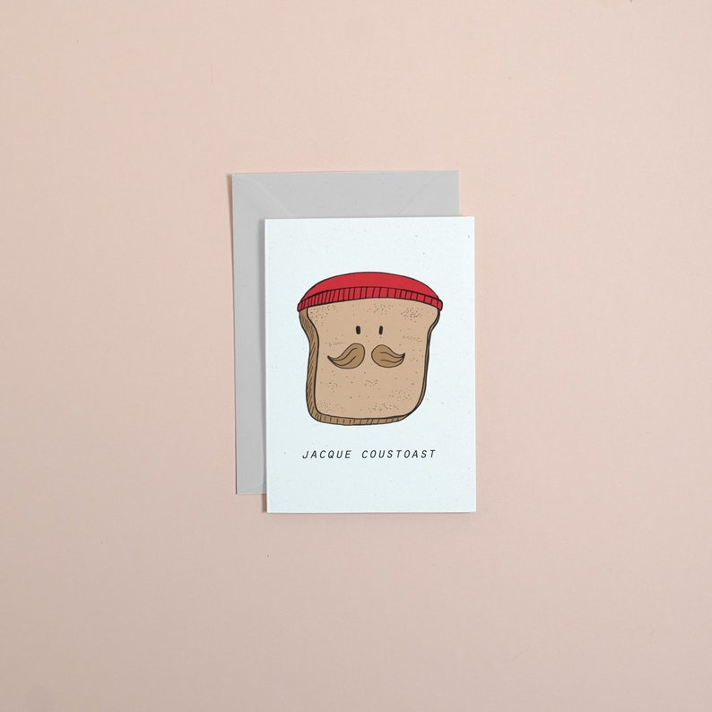 JACQUE COUSTEAU // jacque coustoast greetings card // birthday image 0