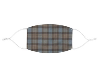 Cute Scottish Tartan Fabric Fashion Face Mask   One Size, Outlander