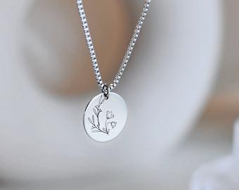 Flower medallion, Women's necklace, Minimalism, Sweet gift, Delicate, Jewel,Woman's gift, Dainty, Teenage gift, HTCxEmie, Thank you, Mom