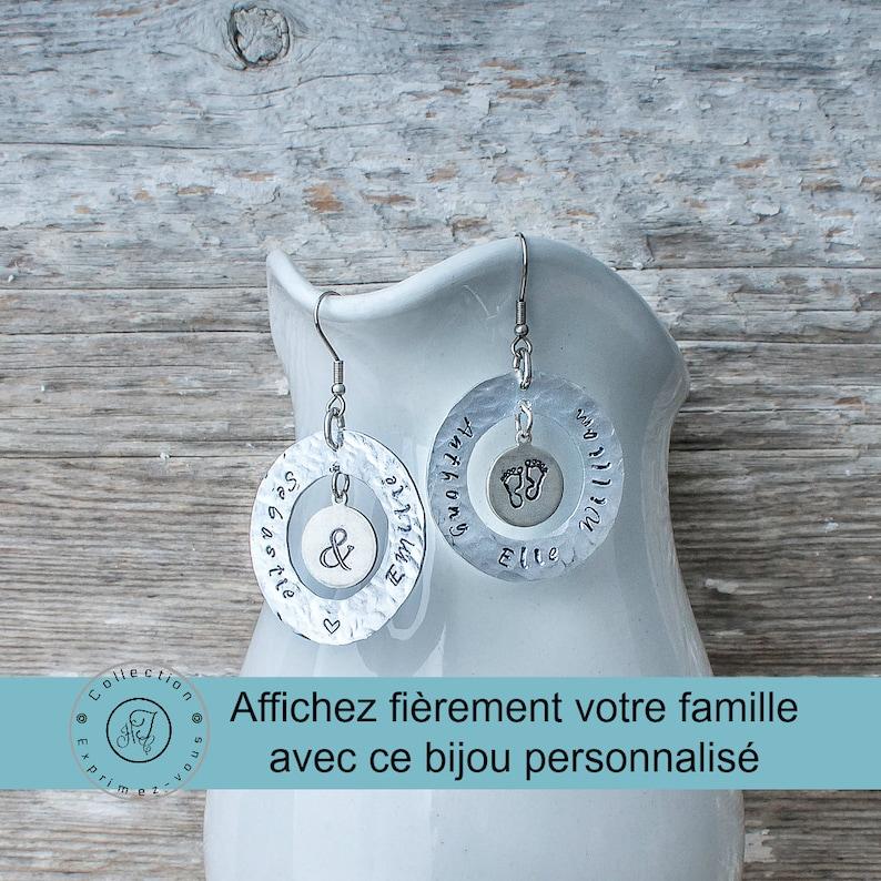Custom earrings family jewelry Scripture names of children image 0