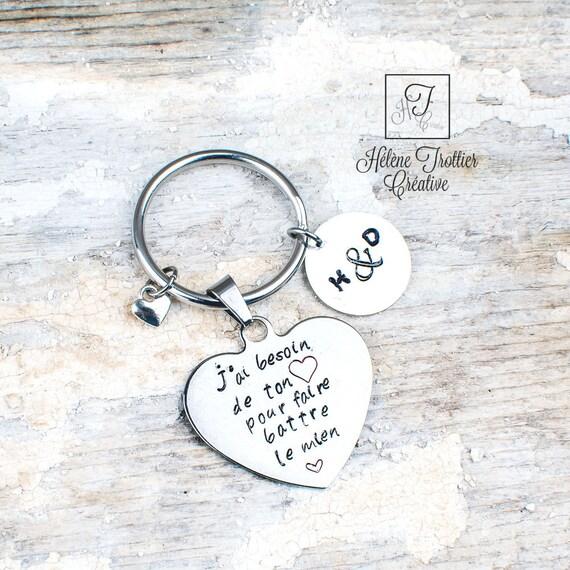 Style 1 Porte-cl/és Amour I Love You More The End I Win Bijoux pour Epoux Epouse Anniversaire Cadeau Saint-Valentin Fete des M/ères Femme Homme
