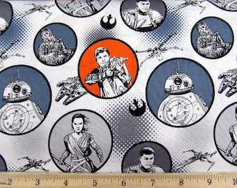 Star Wars Force Awakens Characters from Camelot Fabric