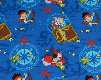 Disney Jake and the Neverland Pirates Fabric From Springs Creative