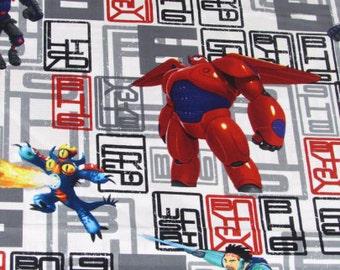 SALE!-Disney Movie Big Hero 6 Character Toss Fabric by Springs Creative