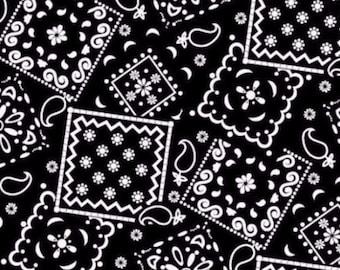 Bandana Fabric- Black Bandana Fabric