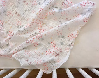 Whimsy + Wonder Watercolor /// Baby organic double gauze swaddle