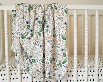 Poppy Watercolor | Organic Cotton Baby Blanket