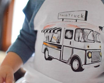 Taco Truck | Baseball Style Toddler T-shirt