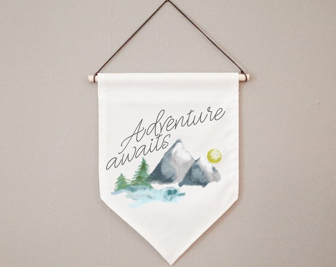 Adventure Awaits | Canvas Hanging Wall Banner