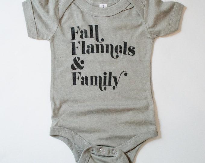 Fall Flannels & Family | Baby Bodysuit