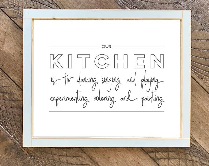 Our Kitchen is for Dancing | Art print