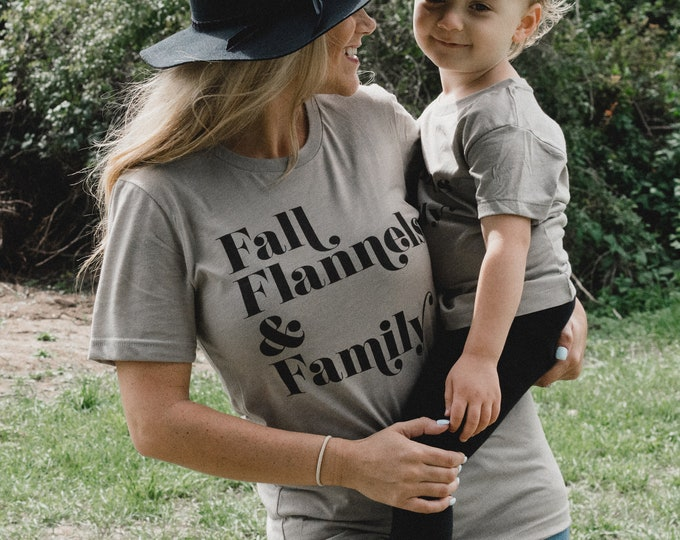 Featured listing image: Fall Flannels & Family | Unisex T-shirt