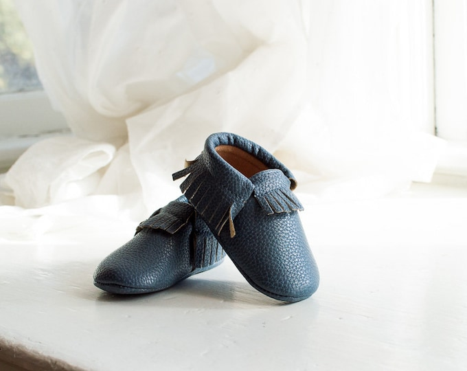 Midnight Blue | Baby Moccasins
