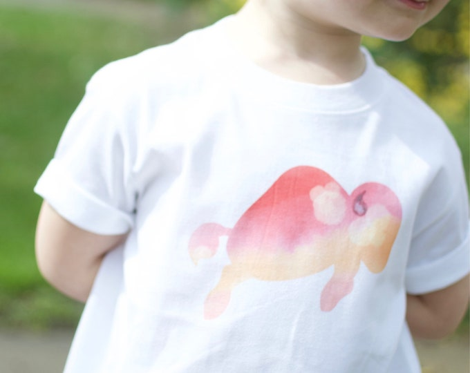 Pink Watercolor Buffalo | Toddler T-shirt