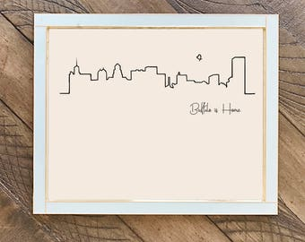 Buffalo Skyline, Buffalo is Home, Art Print