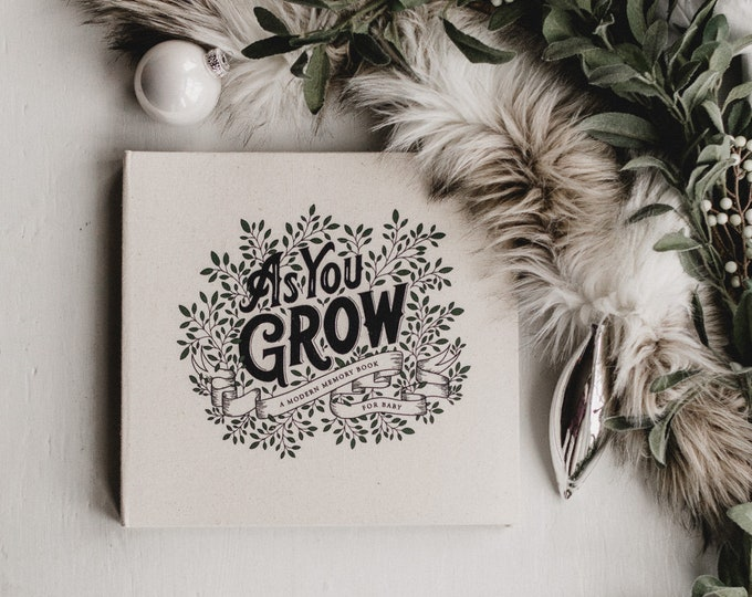 As You Grow | A Modern Memory Book for Baby