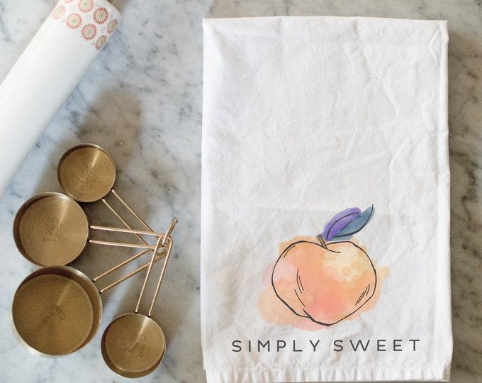 Simply Sweet Peach | Cotton Flour Sack Tea Towel