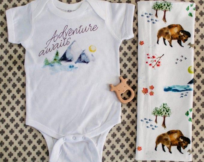 Adventure Awaits | Baby Bodysuit