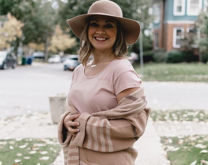 Mama Blush & Copper   Women's Cotton Modal T-shirt